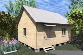 Каркасный дачный дом 4х6 (КС1)