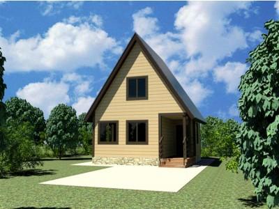 Каркасный дачный дом 6х6