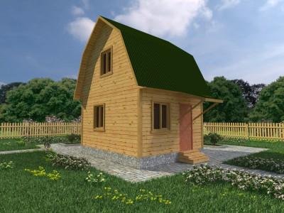 Каркасный дачный дом 3,8х4,8