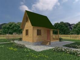 Каркасный дачный дом 4х5 (КС5)