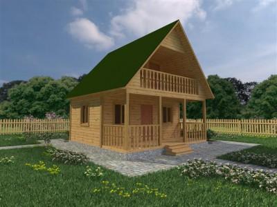 Каркасный дачный дом 6х6 (КС6)