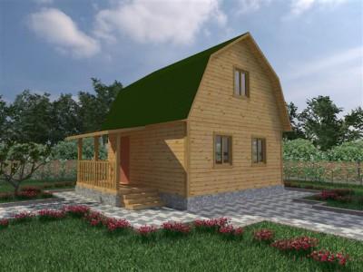 Каркасный дачный дом 6х6 (КС7)