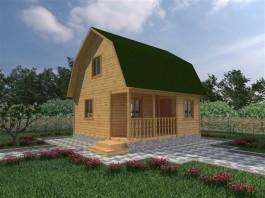 Каркасный дачный дом 4,5х6 (КС10)