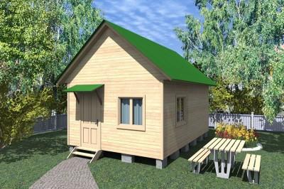 Каркасный дачный дом 5х6 (КС2)